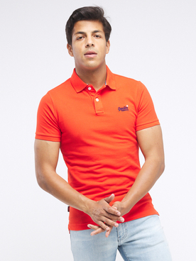 Polo SUPERDRY CL POLO 2 Rouge