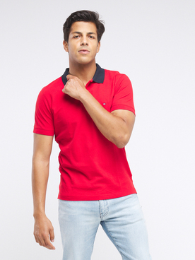 Polo TOMMY HILFIGER MW0MW13084 Rouge