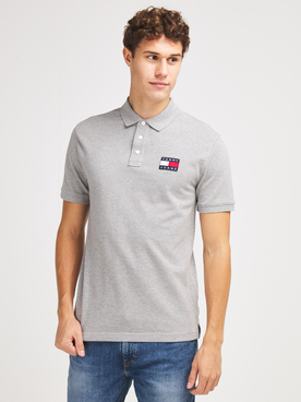 Polo TOMMY JEANS TOMMY BADGE Gris