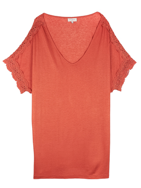 Tee-shirt ONLY CARMAKOMA 15201885 Orange