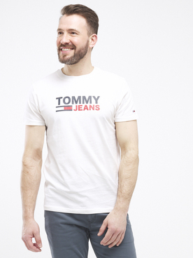 Tee-shirt TOMMY JEANS CORP LOGO Blanc