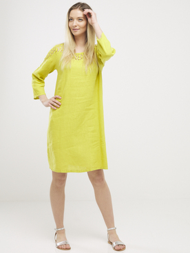Robe LA FEE MARABOUTEE FC3362 Jaune moutarde
