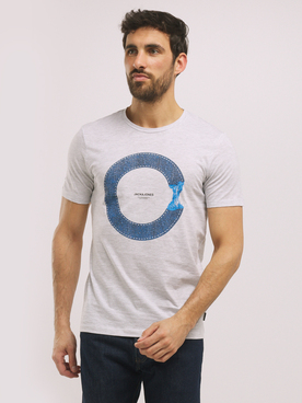 Tee-shirt JACK AND JONES TUTAN Blanc cassé