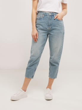 Jean TOMMY JEANS MOM SUNDAY Bleu