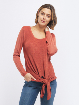 Pull JULIE GUERLANDE 55JG2PU200 Marron clair