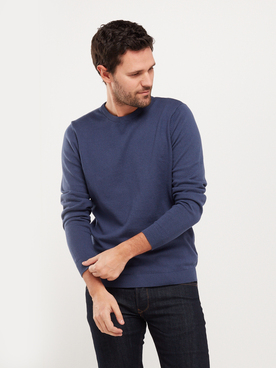 Pull JACK AND JONES BASIC COL RD Bleu