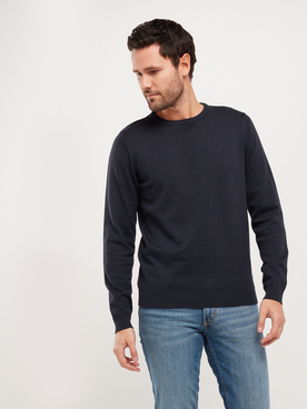 Pull JACK AND JONES BASIC COL RD Bleu marine
