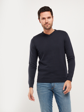 Pull JACK AND JONES BASIC COL V Bleu marine