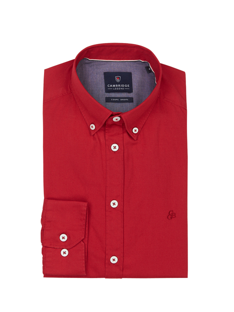 Chemise 100% coton uni CAMBRIDGE LEGEND