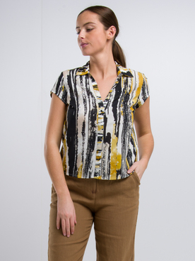Chemise manches courtes MEXX 75509 Jaune moutarde