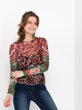 Tee-shirt manches longues DESIGUAL 20SWTKC3 Rose