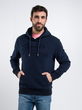 Sweat-shirt SUPERDRY EMB HOOD Bleu marine