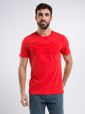 Tee-shirt SUPERDRY EMB TEE Rouge