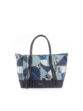 sac sequins bleu denim desigual vente privee