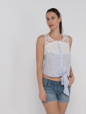 Tee-shirt MOLLY BRACKEN R1434AE20 Bleu