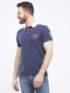 Polo CAMBRIDGE LEGEND 55CG1PO005 Bleu foncé