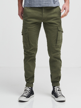 Pantalon JACK AND JONES 12141844 Vert kaki