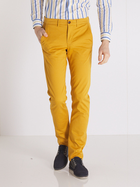 Pantalon CAMBRIDGE LEGEND 54CG1PS000 Jaune moutarde